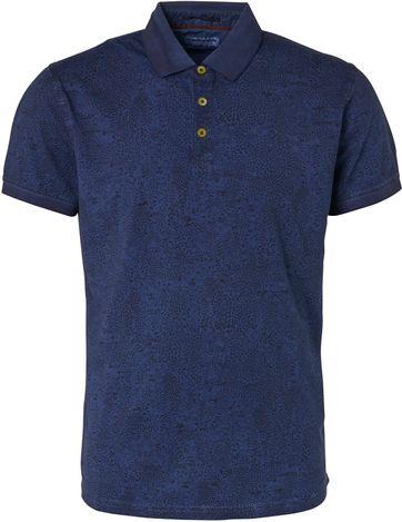 No-Excess Polo Shirt Print Navy
