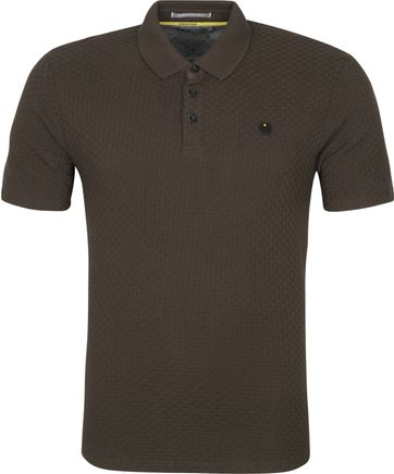 No-Excess Polo Shirt Solid Jacquard Dunkelgrun