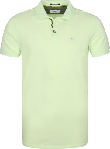 No-Excess Polo Shirt Stone Washed Lime Green