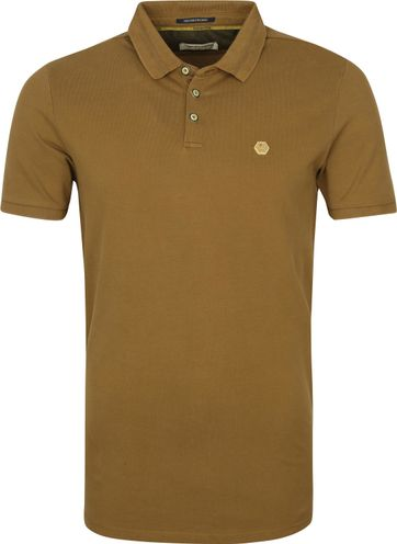 No-Excess Polo Shirt Stone Washed Olive Green