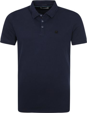 No-Excess Polo Stone Washed Donkerblauw