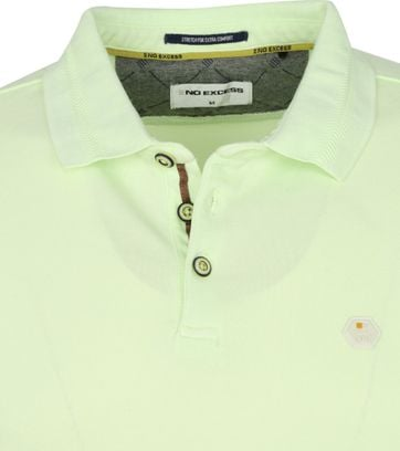 No-Excess Polo Stone Washed Limoengroen