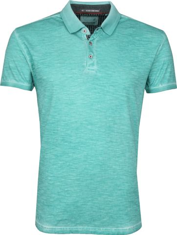 No Excess Poloshirt Cold Dyed Turquoise