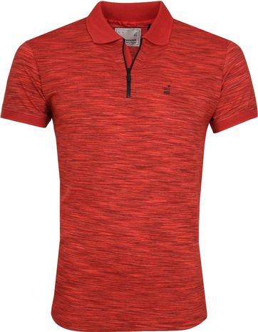 No Excess Poloshirt Grindle Yarn Red