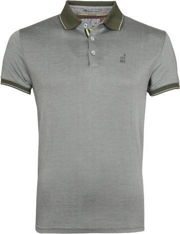 No Excess Poloshirt Jacquard Pique Green