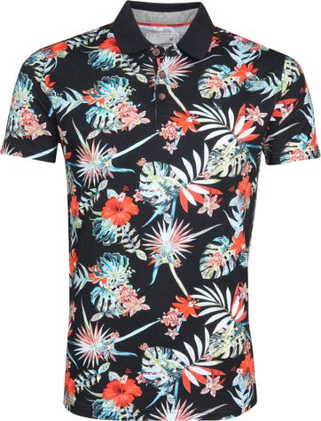 No Excess Poloshirt Multicolour Blumen