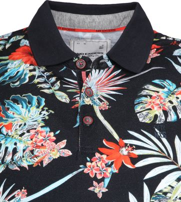 No Excess Poloshirt Multicolour Flowers