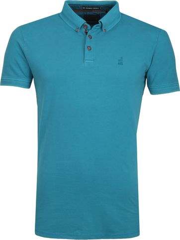 No Excess Poloshirt Stretch Aqua