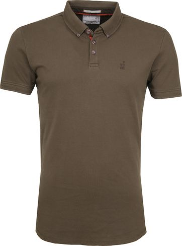 No Excess Poloshirt Stretch Army