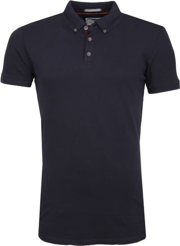 No Excess Poloshirt Stretch Navy