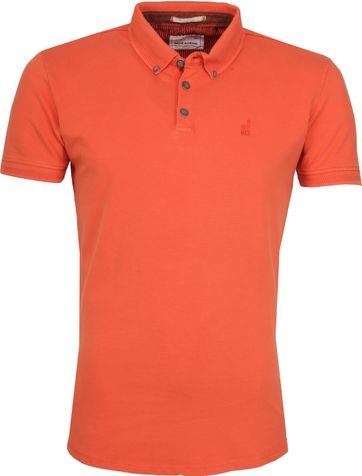 No Excess Poloshirt Stretch Orange