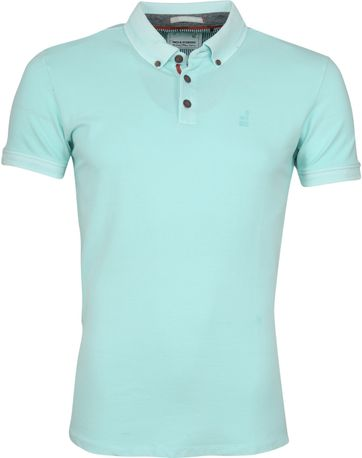 No Excess Poloshirt Stretch Turquoise