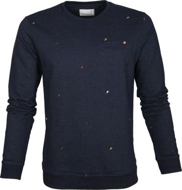 No-Excess Pullover Birds Navy