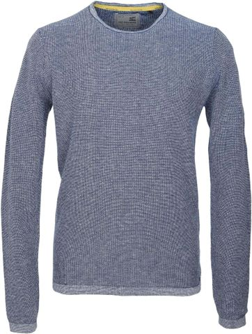 No-Excess Pullover Blauw