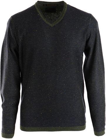 No-Excess Pullover Grün V-Ausschnitt