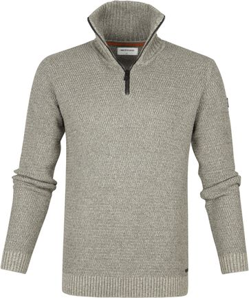 No-Excess Pullover Half Zip Grau