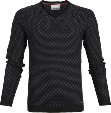 No-Excess Pullover Jacquard Antraciet