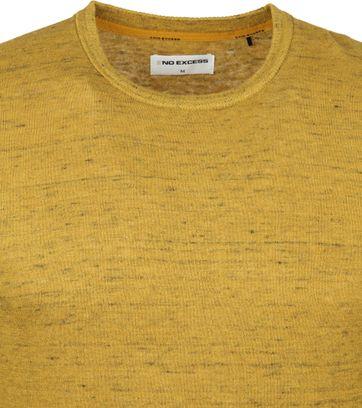 No-Excess Pullover Melange Zwart Geel