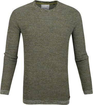 No-Excess Pullover Mischen Dunkelgrün