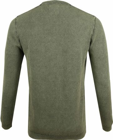 No-Excess Pullover Pique Donkergroen