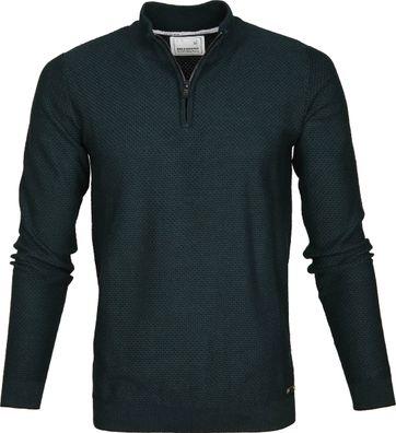 No-Excess Pullover Reißverschluss Grün