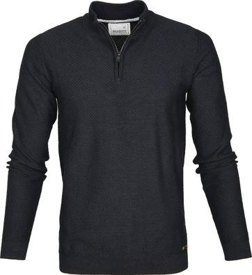 No-Excess Pullover Reißverschluss Schwarz