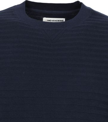 No-Excess Pullover Rib Navy