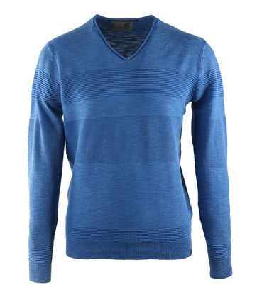 No-Excess Pullover Royal Blau