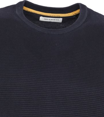 No-Excess Pullover Stone Washed Dunkelblau