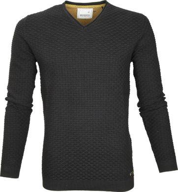 No-Excess Pullover V-Ausschnitt Schwarz