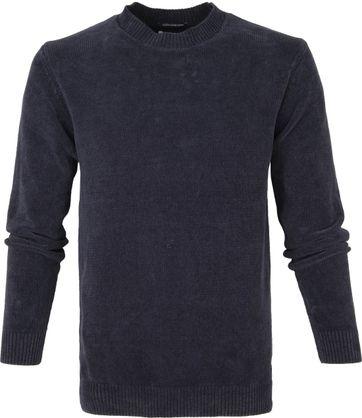 No-Excess R-Neck Sweater Dunkelblau