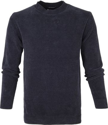 No-Excess R-Neck Sweater Navy