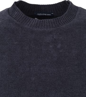 No-Excess R-Neck Trui Donkerblauw