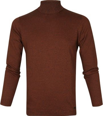 No-Excess Rollkragenpullover Rust