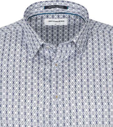 No-Excess Shirt 3D Pattern Blue