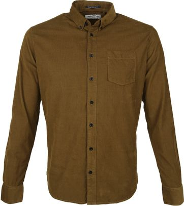 No-Excess Shirt Corduroy Brown