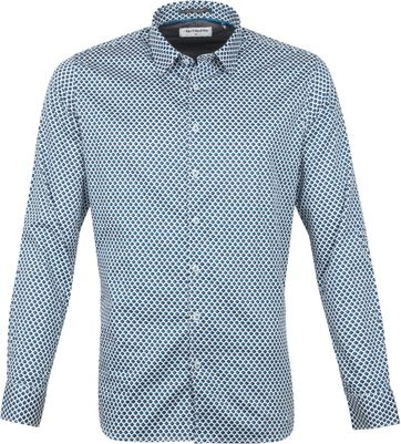 No-Excess Shirt Cube Aqua Blue
