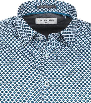 No-Excess Shirt Cube Aqua Blue