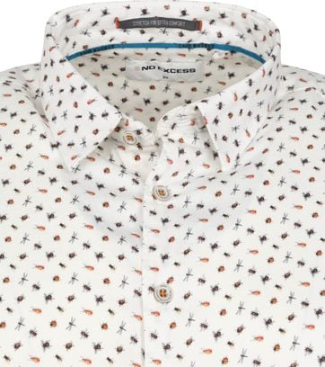 No-Excess Shirt Insects White
