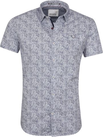 No-Excess Shirt Navy Print