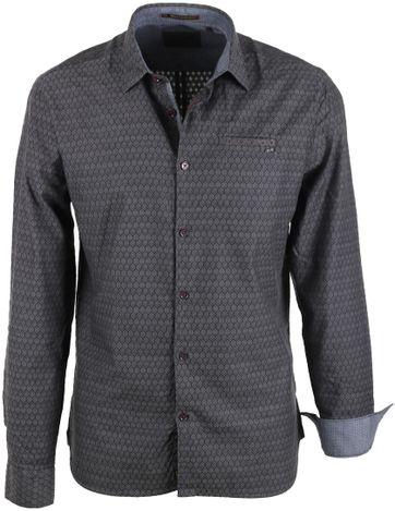 No-Excess Shirt Print Dark Grey