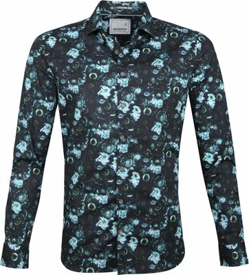 No-Excess Shirt Print Flowers