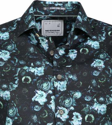 No-Excess Shirt Print Flowers