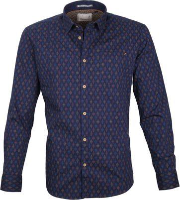 No-Excess Shirt Print Navy