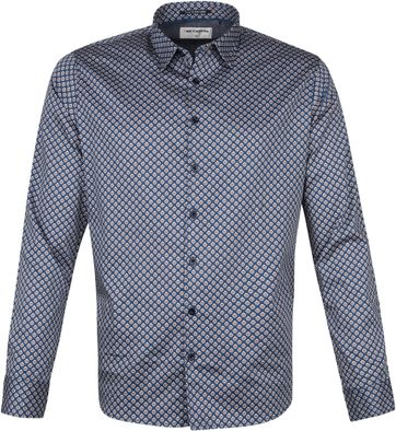 No-Excess Shirt Print Pattern Blue