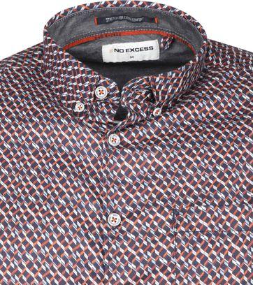 No-Excess Shirt Print Pattern Blue
