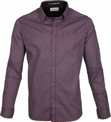 No-Excess Shirt Red Pattern