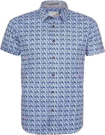 No-Excess Shirt SS Print Indigo