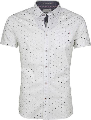 No-Excess Shirt SS Print White