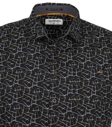 No-Excess Shirt Trendy Stripes Black